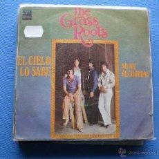 Discos de vinilo: GRASS ROOTS EL CIELO LO SABE SINGLE SPAIN 1969 PDELUXE. Lote 50154562