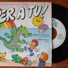 Discos de vinilo: JOAN BIBILONI, PER A TU - RETALLS - EN PEP GONELLA (BLAU 1989) SINGLE AINA M PICO AGUISTI BARO. Lote 50157371