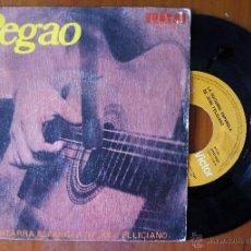 Discos de vinilo: JOSE FELICIANO, PEGAO (RCA 1976) SINGLE ESPAÑA - GUITARRA NO JIVE. Lote 50157499