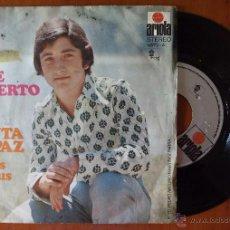 Discos de vinilo: JOSE ALBERTO, CANTA RAPAZ + SOIÑOS OS DOUS (ARIOLA 1971) SINGLE - GALEGO. Lote 50157760