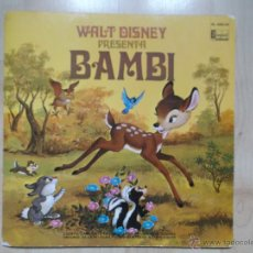 Discos de vinilo: WALT DISNEY PRESENTA BAMBI - HISPAVOX 1970 ED ESPAÑOLA. Lote 50162170