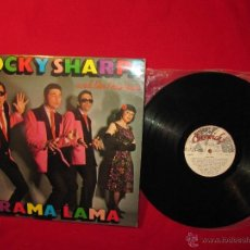 Discos de vinilo: LP ROCKY SHARPE AND THE REPLAYS RAMA LAMA SPANISH VINYL 1979. Lote 50163711