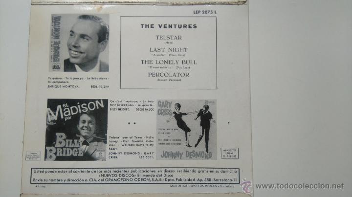 Discos de vinilo: THE VENTURES- TELSTAR + 3- SPANISH EP 1963- EN BUEN ESTADO. - Foto 2 - 50167491