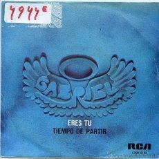 Discos de vinilo: GABRIEL ! ERES TU ! TIEMPO DE PARTIR (SINGLE PROMO 1976). Lote 50168559