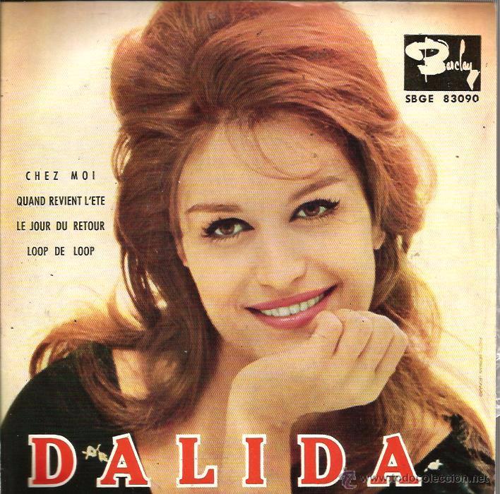 EP DALIDA : CHEZ MOI + 3 (Música - Discos de Vinilo - EPs - Canción Francesa e Italiana)