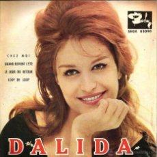 Discos de vinilo: EP DALIDA : CHEZ MOI + 3. Lote 50175054