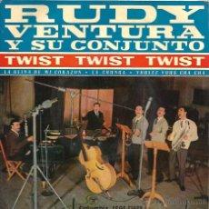 Discos de vinilo: EP RUDY VENTURA Y SU CONJUNTO : TWIST , TWIST, TWIST + 3 (EDITADO EN 1961 ) . Lote 50176162