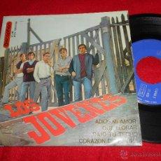 Discos de vinilo: LOS JOVENES ADIOS MI AMOR/QUE LLORAR/BAJO TU TECHO/CORAZON DE PIEDRA EP 1965 DISCOPHON BEATLES. Lote 50179510