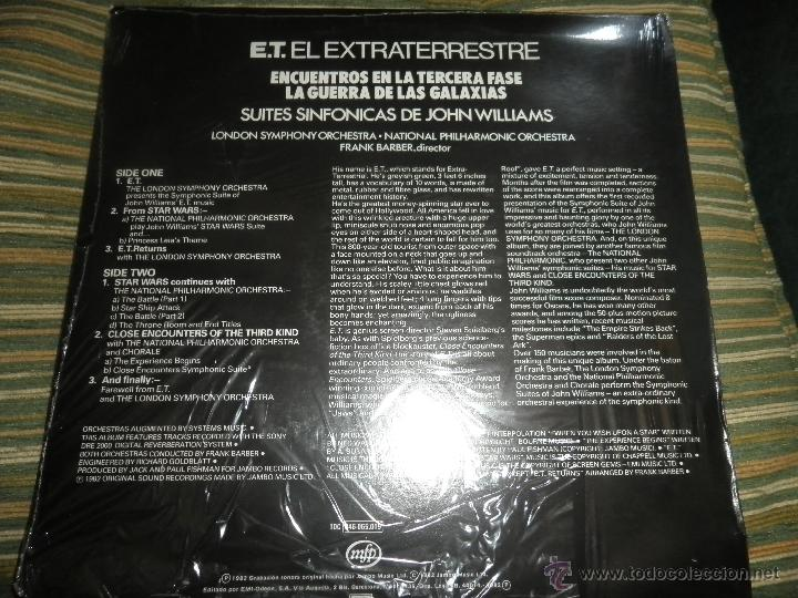 Discos de vinilo: JOHN WILLIAMS - SUITES SINFONICAS DE JOHN WILLIAMS LP - ORIGINAL ESPAÑOL - MFP 1982 AUN PRECINTADO 5 - Foto 9 - 50183038