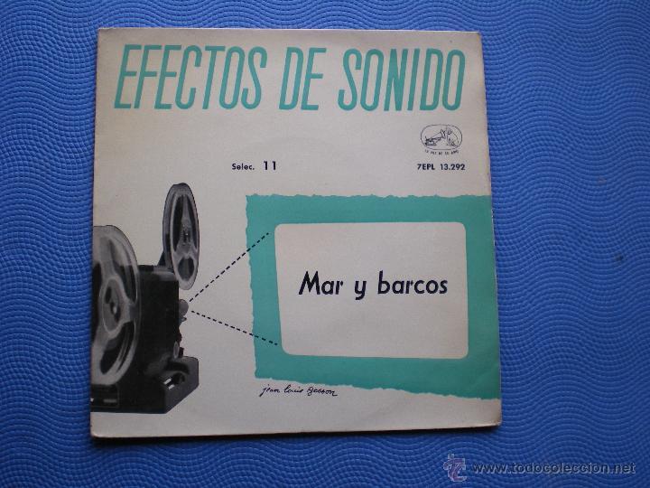 VARIOS-EFECTOS DE SONIDO MAR Y BARCOS EP SPAIN 1959 PDELUXE (Música - Discos de Vinilo - EPs - Otros estilos)