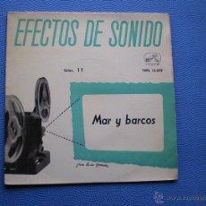 Discos de vinilo: VARIOS-EFECTOS DE SONIDO MAR Y BARCOS EP SPAIN 1959 PDELUXE. Lote 50189056