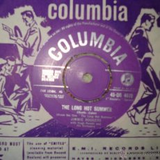 Discos de vinilo: JIMMIE RODGERS , THE LONG HOT SUMMER - OH-OH, I´M FALLING IN LOVE AGAIN , UK SINGLE 1958. Lote 50189102