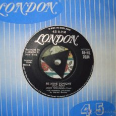 Discos de vinilo: ANDY WILLIAMS - BE MINE TONIGHT - ARE YOU SINCERE ,LONDON UK SINGLE 1958. Lote 50189247