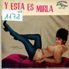 Discos de vinilo: MIRLA / BAILA MI TWIST / CAROLINA DAI + 2 (EP 1962). Lote 50203180