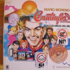 Discos de vinil: LP - MARIO MORENO CANTINFLAS - CON LOS NIÑOS DEL MUNDO (SPAIN, RCA 1983, PORTADA DOBLE). Lote 50205107