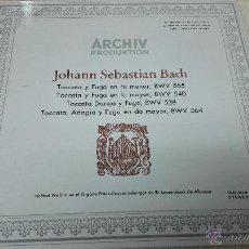 Discos de vinilo: J.S.BACH. ARCHIV PRODUKTION.1 LP POR LAS DOS CARAS. TOCATA Y FUGA.. Lote 50215525