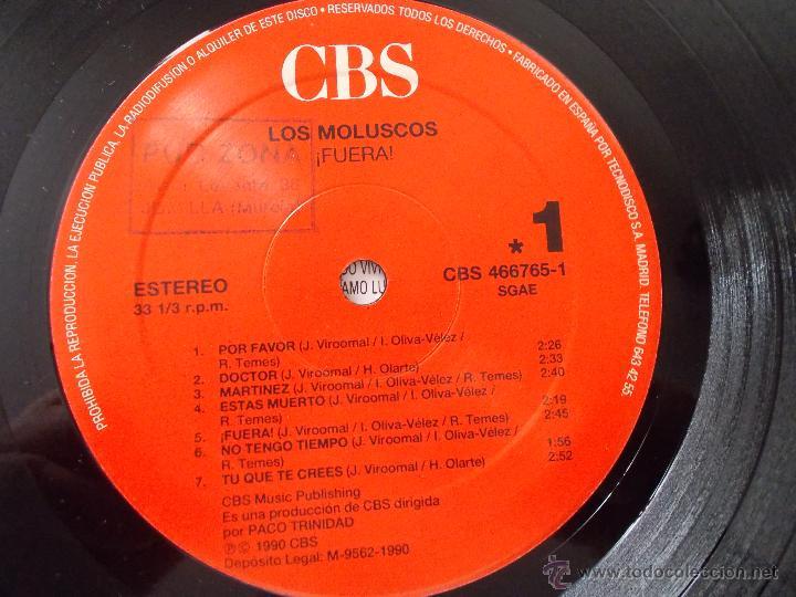 Discos de vinilo: LOS MOLUSCOS. FUERA - Foto 2 - 50217731