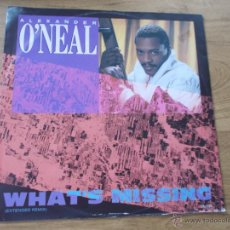Discos de vinilo: ALEXANDER O´NEAL. WHAT´S MISSING MAXI 12 . Lote 50222459