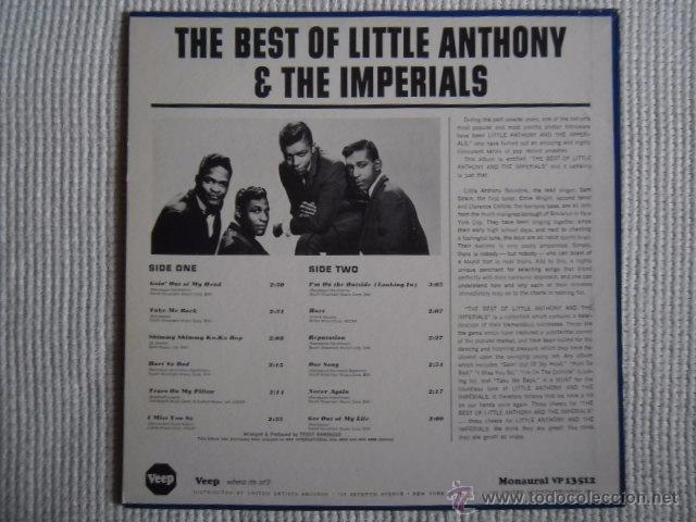 Discos de vinilo: LITTLE ANTHONY AND THE IMPERIALS - '' THE BEST OF ... '' LP ORIGINAL USA - Foto 2 - 50223836