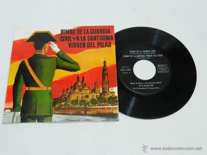 DISCO DE VINILO DE LA GUARDIA CIVIL, HIMNO DE LA GUARDIA CIVIL Y LA SANTISIMA VIRGEN DEL PILAR,SINGL (Música - Discos - Singles Vinilo - Otros estilos)