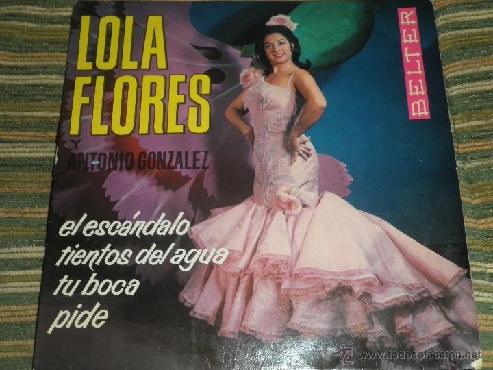 LOLA FLORES - EL ESCANDALO EP - ORIGINAL ESPAÑOL - BELTER RECORDS 1964 - MONOAURAL - (Música - Discos de Vinilo - EPs - Flamenco, Canción española y Cuplé)