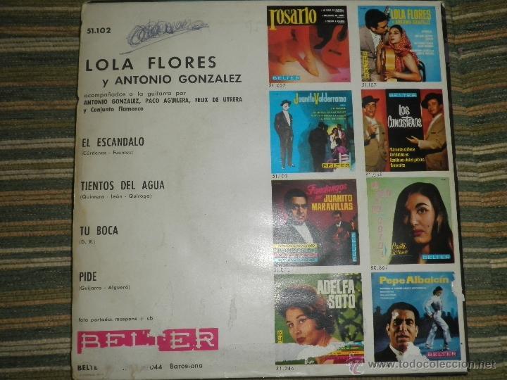 Discos de vinilo: LOLA FLORES - EL ESCANDALO EP - ORIGINAL ESPAÑOL - BELTER RECORDS 1964 - MONOAURAL - - Foto 2 - 50229533