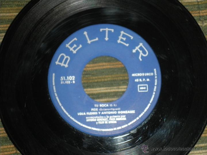 Discos de vinilo: LOLA FLORES - EL ESCANDALO EP - ORIGINAL ESPAÑOL - BELTER RECORDS 1964 - MONOAURAL - - Foto 5 - 50229533