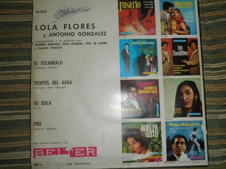 Discos de vinilo: LOLA FLORES - EL ESCANDALO EP - ORIGINAL ESPAÑOL - BELTER RECORDS 1964 - MONOAURAL - - Foto 6 - 50229533