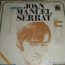 JOAN MANUEL SERRAT - PENELOPE - SINGLE ORIGINAL ESPAÑOL - NOVOLA RECORDS 1969 - MONOAURAL -