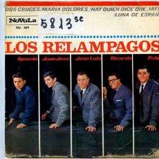 Discos de vinilo: LOS RELAMPAGOS / DOS CRUCES / MARIA DOLORES + 2 (EP 1965). Lote 50233628