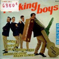 Discos de vinilo: THE ROCKING BOYS / CUANDO LOS GATOS BAILAN ELTWIST / POPEYE + 2 (EP 1963). Lote 50234163