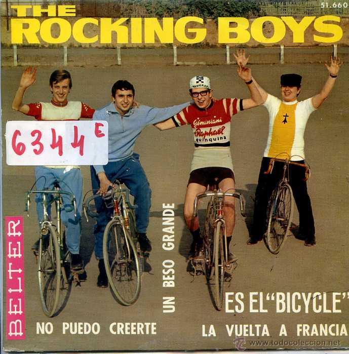 THE ROCKING BOYS / UN BESO GRANDE / LA VUELTA A FRANCIA + 2 (EP 1966) (Música - Discos de Vinilo - EPs - Grupos Españoles de los 70 y 80)