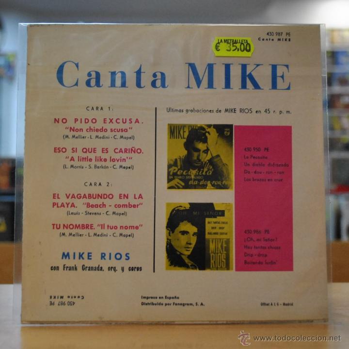Discos de vinilo: MIKE - NO PIDO EXCUSAS + 3 - EP - Foto 2 - 50234244