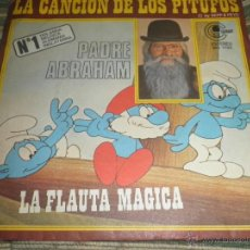 Discos de vinilo: PADRE ABRAHAM - LA CANCION DE LOS PITUFOS - SINGLE ORIGINAL ESPAÑOL CARNABY RECORDS 1977 -. Lote 50234865