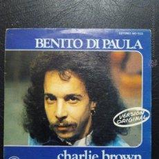 Discos de vinilo: SINGLE BENITO DI PAULA - CHARLIE BROWN - BELEZA QUE E VOCE MULHER - CARNABY 1975.. Lote 50235032