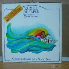 Discos de vinilo: TONI GIMENEZ - VAIXELL DE PAPER. CANÇONS I MELODIES PER A NENS I NENES - LA GRANOTA B-1126 - 1982. Lote 50240238