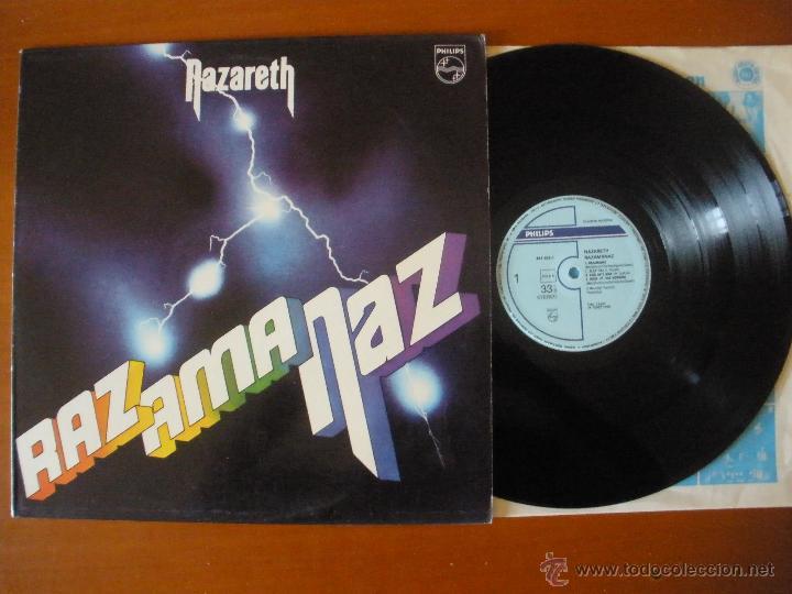 NAZARETH RAZ AMA NAZ LP ESPAÑA 1990 (Música - Discos - LP Vinilo - Heavy - Metal)