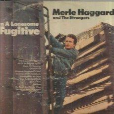 Discos de vinilo: MERLE HAGGARD FUGITIVE. Lote 50252384