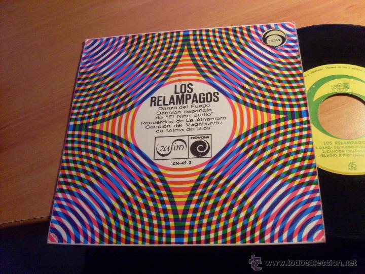 LOS RELAMPAGOS ( DANZA DEL FUEGO + 3 ) EP 1966 ESPAÑA (VG+/VG+) (EP13) (Música - Discos de Vinilo - EPs - Grupos Españoles 50 y 60)