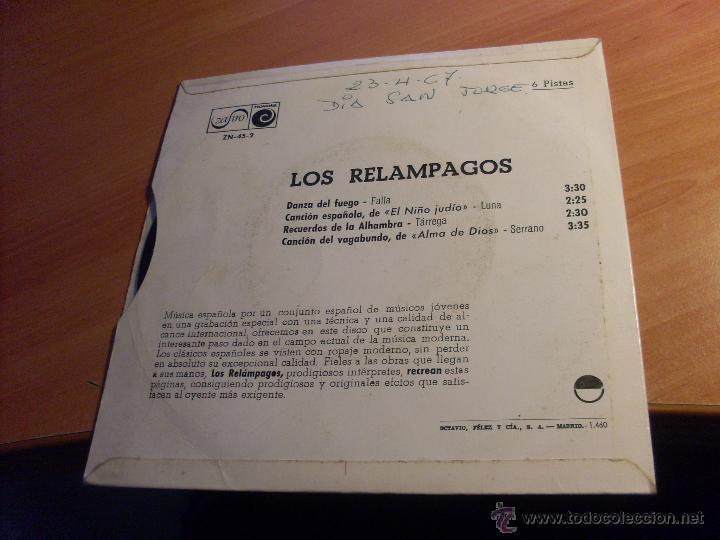 Discos de vinilo: LOS RELAMPAGOS ( DANZA DEL FUEGO + 3 ) EP 1966 ESPAÑA (VG+/VG+) (EP13) - Foto 3 - 50253508