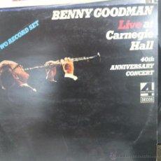 Discos de vinilo: BENNY GOODMAN-LIVE AT CARNEGIE HALL -DOBLE LP. Lote 50253617
