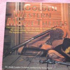 Disques de vinyle: GOLDEN WESTERN MOVIE THEMES,EDICION HOLLAND DEL 83. Lote 50255718