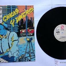 Discos de vinilo: LOS ELEGANTES - CHICAS Y DINERO / DISPARARE (MAXI 1985). Lote 50256376
