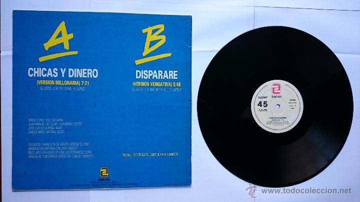 Discos de vinilo: LOS ELEGANTES - CHICAS Y DINERO / DISPARARE (MAXI 1985) - Foto 2 - 50256376