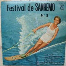 Discos de vinilo: FESTIVAL DE SAN REMO Nº 2 - EP 1960. Lote 50256947