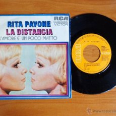 Discos de vinilo: SINGLE VINILO 'RITA PAVONE - LA DISTANCIA'.. Lote 50270140