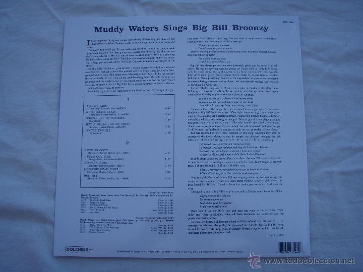Discos de vinilo: MUDDY WATERS - SINGS BIG BILL - LP - PRECINTADO - Foto 2 - 50274576