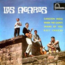 Discos de vinilo: LOS AGAROS - CANCION INDIA +3. Lote 50287526