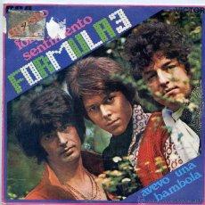 Discos de vinilo: FORMULA 3 / QUESTO FOLLE SENTIMENTO / AVEVO UNA BAMBOLA (SINGLE 1970). Lote 50290740