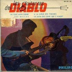 Discos de vinilo: LAS GUITARRAS DEL DIABLO / DE TOUT MON COEUR + 2 (EP 1963). Lote 50291819